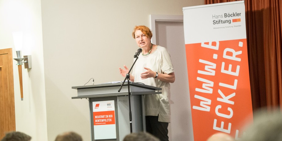 DGB Vorstandsmitglied Annelie Buntenbach auf der Rentenpolitischen Tagung des DGB am 6. Juni 2019
